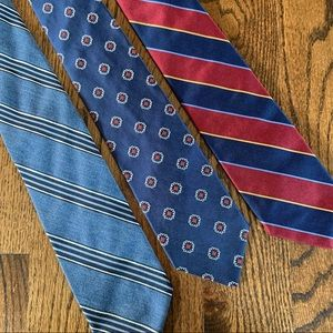 Navy Brooks Brothers tie bundle